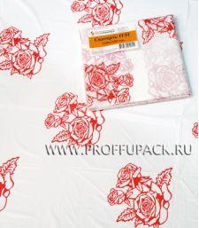 Скатерть 120х220 с рисунком Роза