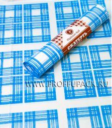 Скатерти 110х180 PR (рулон 5 шт.) Клетка синяя