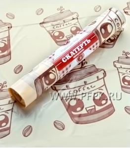 Скатерти 110х180 PR (рулон 5 шт.) Кофе