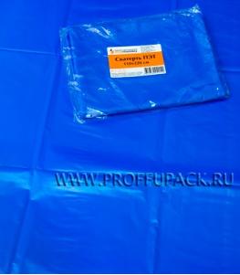 Скатерть ПЭТ 110х220 цветная Синяя