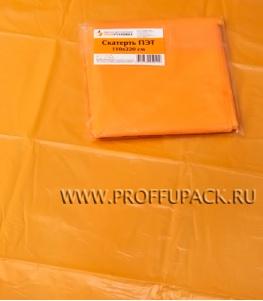 Скатерть ПЭТ 110х220 цветная Оранжевая