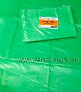 Скатерть ПЭТ 110х220 цветная Зеленая