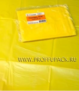 Скатерть ПЭТ 110х220 цветная Желтая