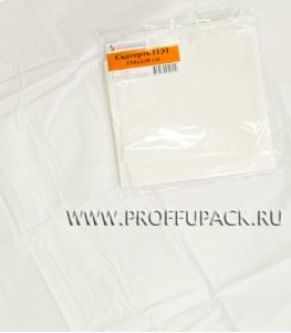 Скатерть ПЭТ 110х220 цветная Белая