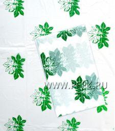 Скатерть 110х220 с рисунком ПНД Зеленые листья