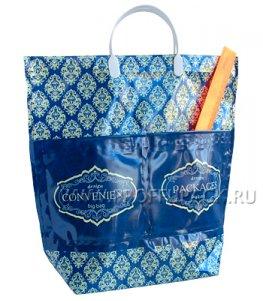 Хозяйственная сумка С КАРМАНАМИ, П/Э 37х37+10 (150мкм) Узоры
