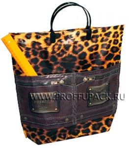 Хозяйственная сумка С КАРМАНАМИ, П/Э 37х37+10 (150мкм) Премиум