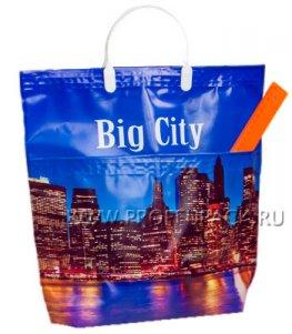 Хозяйственная сумка С КАРМАНАМИ, П/Э 37х37+10 (150мкм) Город (Big City)