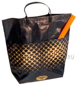 Хозяйственная сумка С КАРМАНАМИ, П/Э 37х37+10 (150мкм) Сетка
