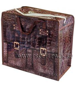 Хозяйственная сумка с молнией, №1 (40+20x36+20) С РИСУНКОМ Крокодил (арт. 301)