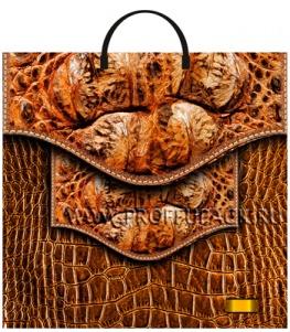 Пакет с пласт.руч. ФОТОПЕЧАТЬ 36х37 (100 мкм) ТИКО Кожаная сумка