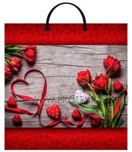 Пакет с пласт.руч. ФОТОПЕЧАТЬ 36х37 (100 мкм) ТИКО Красная лента