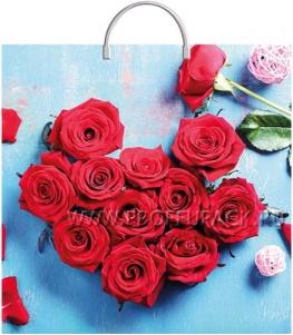 Пакет с пласт.руч. ФОТОПЕЧАТЬ 36х37 (100 мкм) ТИКО Розы в лазури