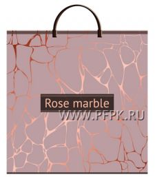 Пакет с пласт.руч. ФОТОПЕЧАТЬ 36х37 (100 мкм) ТИКО Розовый мрамор