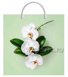Пакет с пласт.руч. ФОТОПЕЧАТЬ 36х37 (100 мкм) ТИКО Орхидея на салатовом