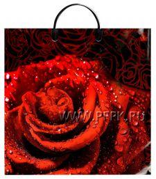 Пакет с пласт.руч. ФОТОПЕЧАТЬ 36х37 (100 мкм) ТИКО Роза красная
