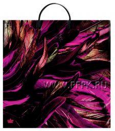 Пакет с пласт.руч. ФОТОПЕЧАТЬ 36х37 (100 мкм) ТИКО Фиолетовые перья