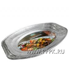 Форма алюминиевая ПОДНОС (3шт) ПИКНИЧОК (401-567); 30 упак