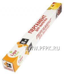 Пергамент для выпечки 38см*8м в футляре Liga Pack