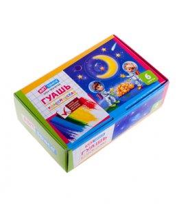 Детские акварельные краски, гуашь, кисточки, палитры