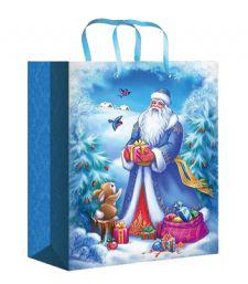 Бумажные новогодние сумочки для подарков