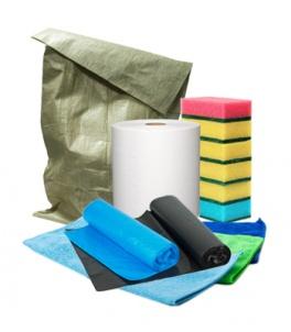Уборочный инвентарь, средства для уборки, мешки для мусора