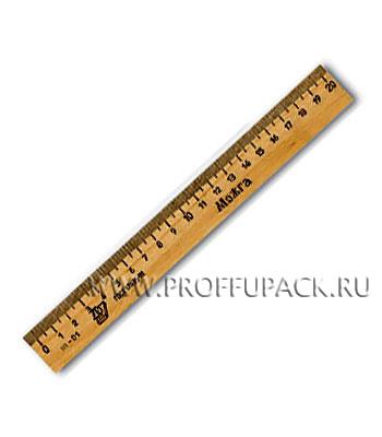 Линейка деревянная 20см (001-527 / С05 / C06) [50/3600]