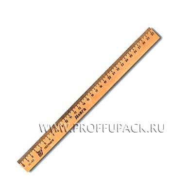 Линейка деревянная 30см (001-529 / C07) [50/2400]