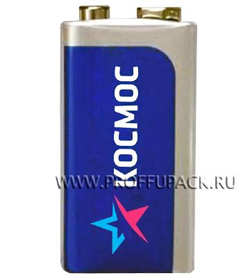 Батарейки КОСМОС 6F22 (Крона) солевые (спайка 1 шт) [10/400]