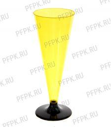 Фужер 150 мл на ножке Желтый [6/324]