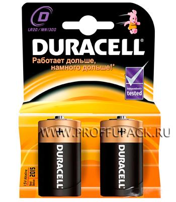 Батарейки DURACELL LR20 (D) алкалин (блистер 2 шт) (176-946) [2/20]