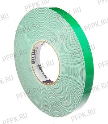 Клейкая лента двухсторонняя вспененная 19х25 BI.ESSE(зеркальная) зеленая [1/10]