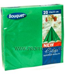 Салфетки бум. DESNA BOUQUET COLOR 33х33, 2-сл. (20 листов) Зеленые [12/12]