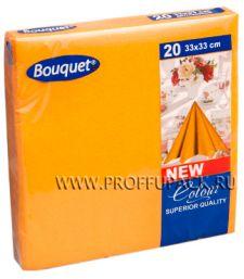 Салфетки бум. DESNA BOUQUET COLOR 33х33, 2-сл. (20 листов) Оранжевые [12/12]