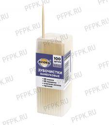 Зубочистки (пласт.баночка, 100шт.) AVIORA (401-485) [12/480]
