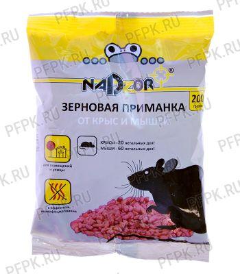 Приманка от грызунов, зерно (пакет 200 гр) NADZOR NASA 201 [1/30]