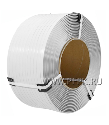 Лента полипропиленовая 12мм х0,42х3500 ТС Белая