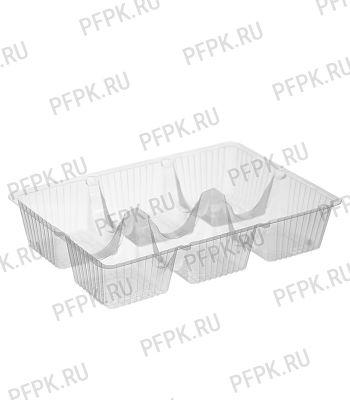 Емкость ИП-32 (коррекс, 6 ячеек) Прозрачная ПЭТ [1/800]