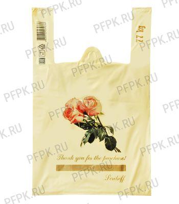 Майка КЛУБНИКА 37+16х60 ПНД (40мкм) SERIKOFF Букет (бежевая) [100/1000]