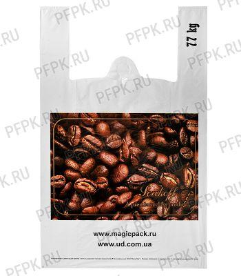 Майка КЛУБНИКА 37+16х60 ПНД (40мкм) SERIKOFF Кофе на белом [100/1000]