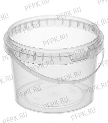 Ведро 0,5л прозрачное, д-р 100мм (без крышки) Прозрачное [1/600]