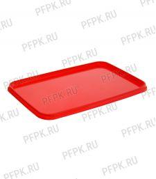 Крышка к банкам ПП 400мл., 280мл. прямоугольная 91 ПЕРИНТ Красная [1000/1000]