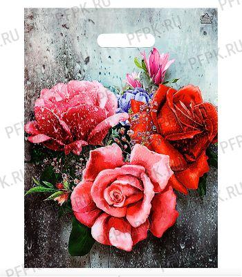 ТРИУМФ, вырубная ручка, 31х40+3 (60мкм) ламинат, ТИКО Три розы на окне [50/500]