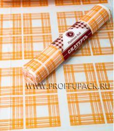 Скатерти 110х180 PR (рулон 5 шт.) Клетка оранжевая [1/20]