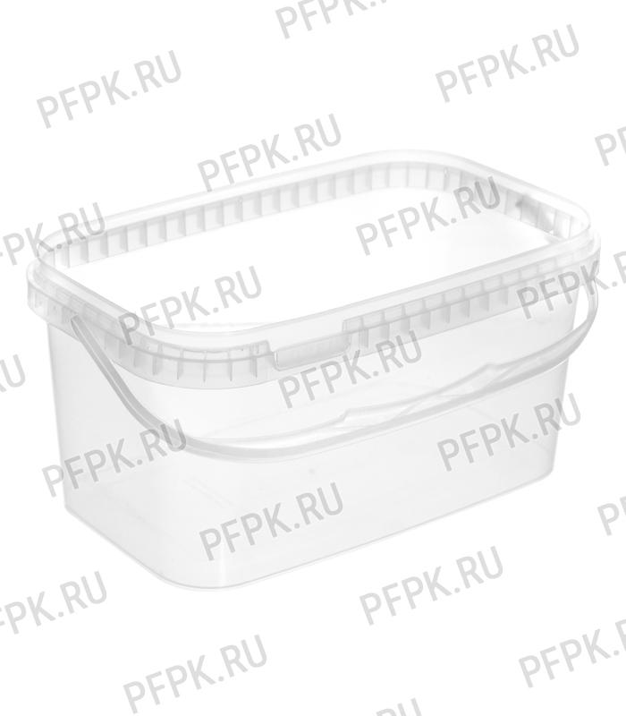 Крышка к ведру 3,3л, прямоугольная, 250 (КК-250) Прозрачная [1/315]