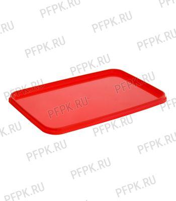 Крышка к ведру 2л, прямоугольная, к банке ПП 1000 мл 191 (КК-191) Красная [1/612]