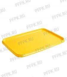 Крышка к ведру 2л, прямоугольная, к банке ПП 1000 мл 191 (КК-191) Желтая [1/612]