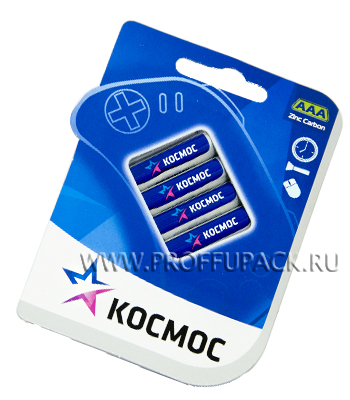 Батарейки КОСМОС R3 (AAA) солевые (блистер 4 шт) [48/960]