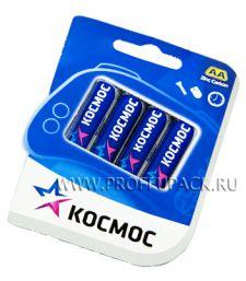 Батарейки КОСМОС R6 (AA) солевые (блистер 4 шт) [60/960]