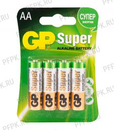 Батарейки GP Super LR3 (ААА) алкалин (блистер 4 шт) (151-050) [40/160]